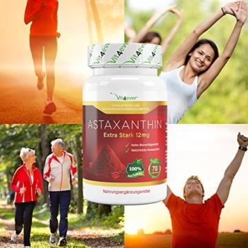 Astaxanthin 12 mg, 70 Softgel Kapseln zum Sonderpreis, Neue Version, starker natürlicher Antioxidant, Hohe Bioverfügbarkeit, Vit4ever - 5