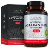 Astaxanthin 18 mg - Hochdosiert - 6-Monats-Versorgung - 180 Kapseln - Laborgeprüft - Premium Qualität - Hergestellt aus der Microalge Haematococcus Pluvialis - Höchste Dosierung auf dem Markt - 1