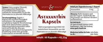 Astaxanthin Kapseln - 2 Monatsvorrat - Ohne Magnesiumstearat - 2