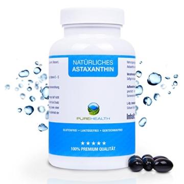 Astaxanthin Kapseln • Starkes Antioxidans • Schnellere Erholung • 100% Natürlich • 200 Softgels = mehr als 6 Monatsvorrat • Bekannt aus dem TV! • Hergestellt in Deutschland - 1