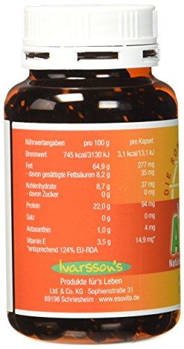 Astaxanthin - versandkostenfrei - VitalAstin 300 Kapseln - Das Original Ivarssons VitalAstin mit 4 mg natürlichem Astaxanthin - Antioxidans - 4