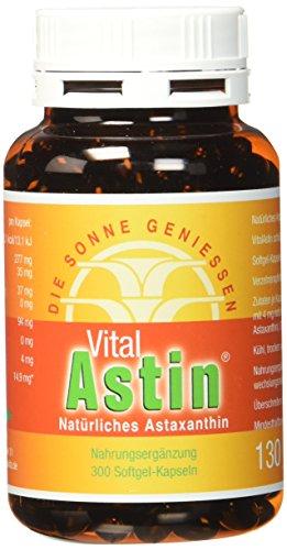 Astaxanthin - versandkostenfrei - VitalAstin 300 Kapseln - Das Original Ivarssons VitalAstin mit 4 mg natürlichem Astaxanthin - Antioxidans - 1